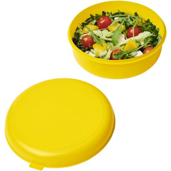 Miku round plastic pasta box - Yellow