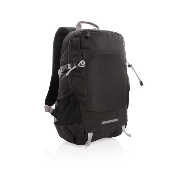 Outdoorový RFID batoh na notebook - Černá / Šedá