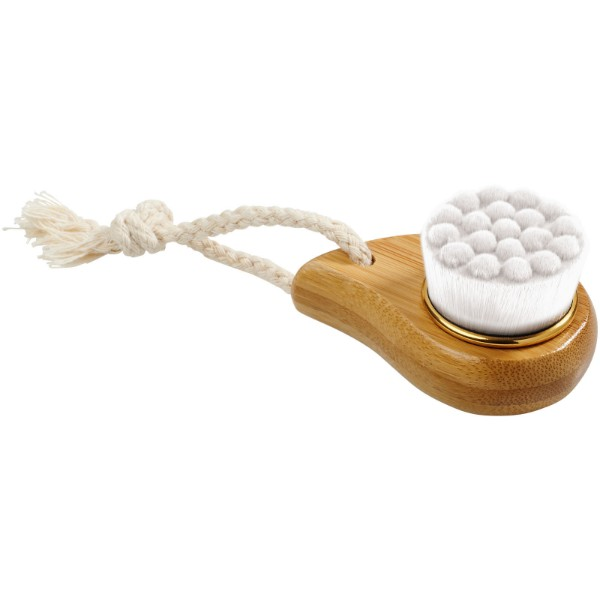 Plato bamboo facial brush - White