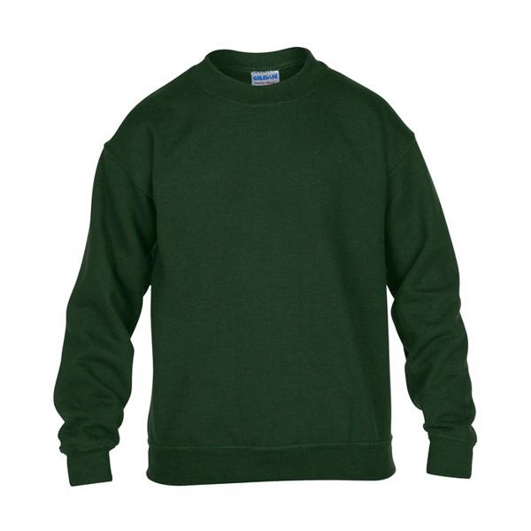 Dziecięca Bluza 255/270 g/m2 Youth Crew Neck 18000B - Ciemno-zielony / S
