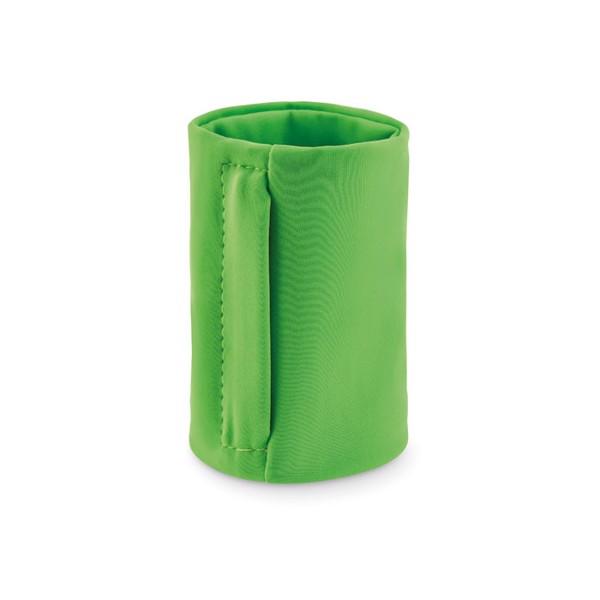 Zippered lycra wristband Loopband - Lime
