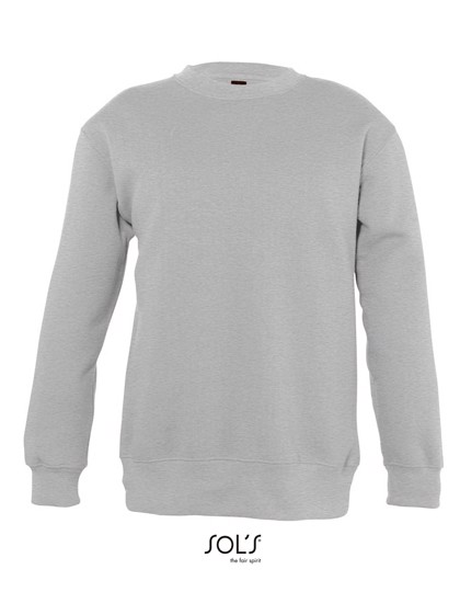 Kids` Sweatshirt New Supreme - Grey Melange / 12 years (142-152)