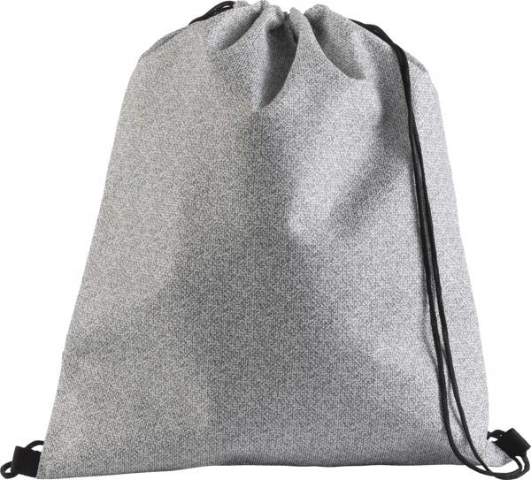 Nonwoven (70 gr/m²) drawstring backpack - Black