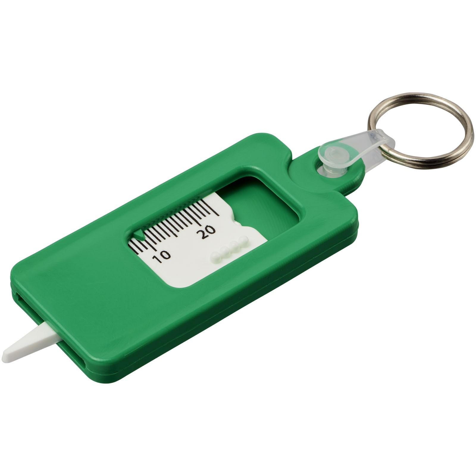 Klíčenkový měřič vzorku pneumatiky Kym - Zelená