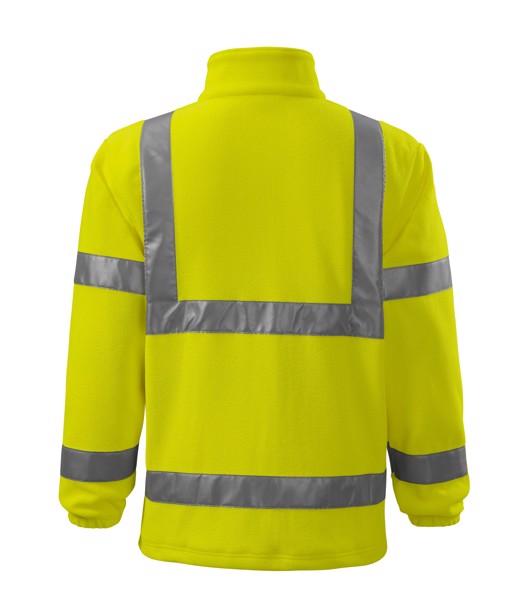 Fleece unisex Rimeck HV Fleece Jacket - Fluorescenční Žlutá / 3XL