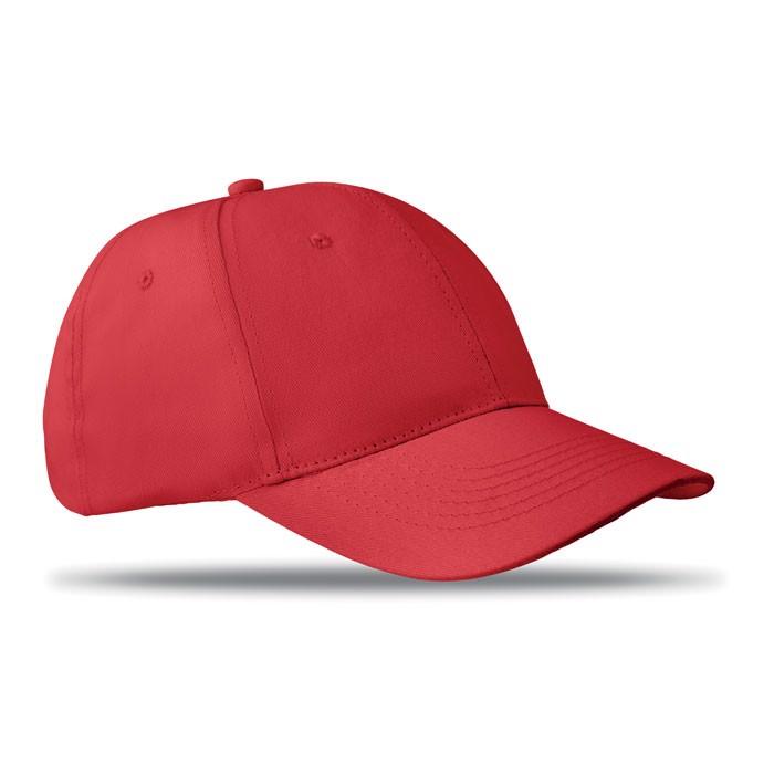 6 panels baseball cap Basie - Red