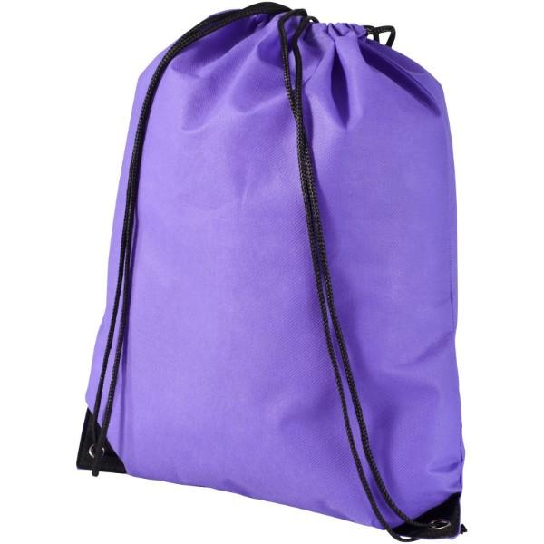 Evergreen non-woven drawstring backpack - Lavender