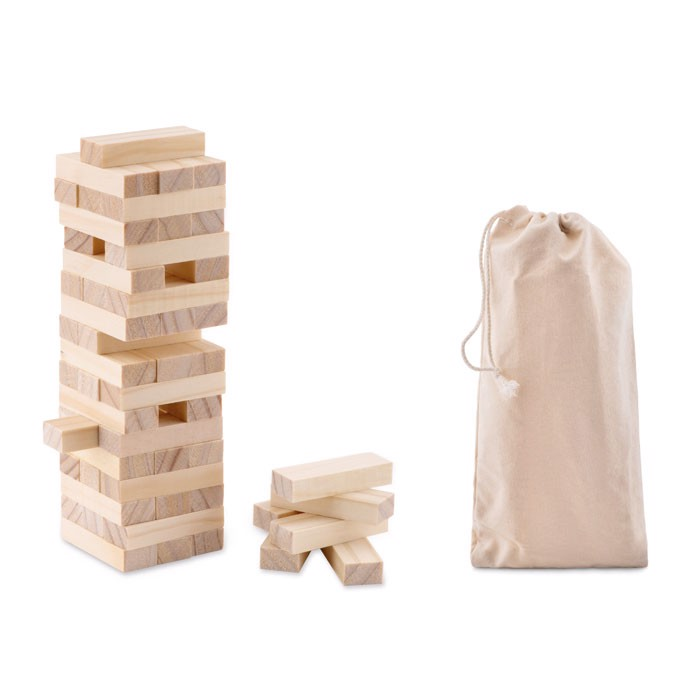 Tower game in cotton pouch Pisa