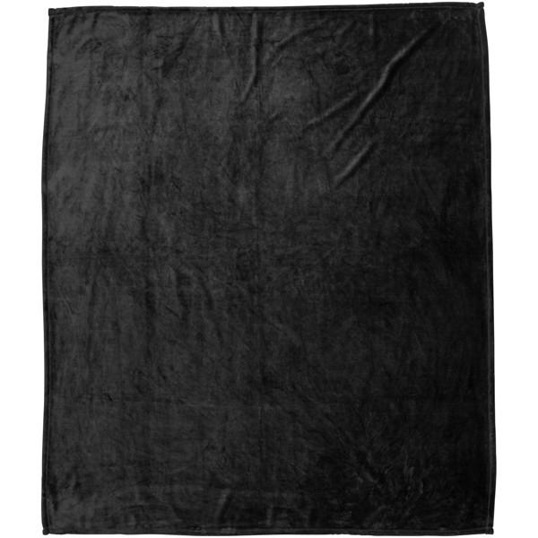 Pléd Mollis z hustého plyše v nadměrné velikosti - Černá