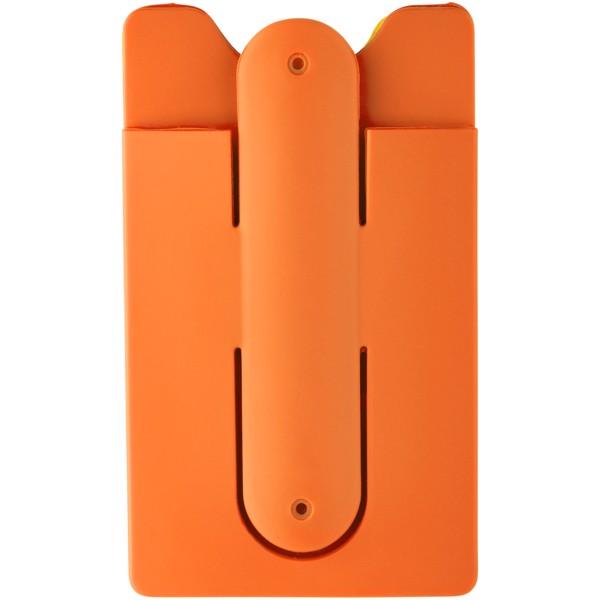 Pouzdro na kartu se stojánkem k telefonu - 0ranžová