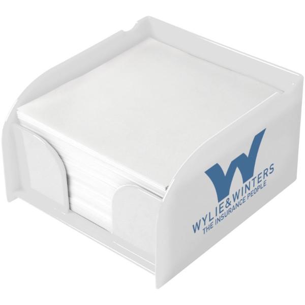 Vessel memo block insert and memo paper - White