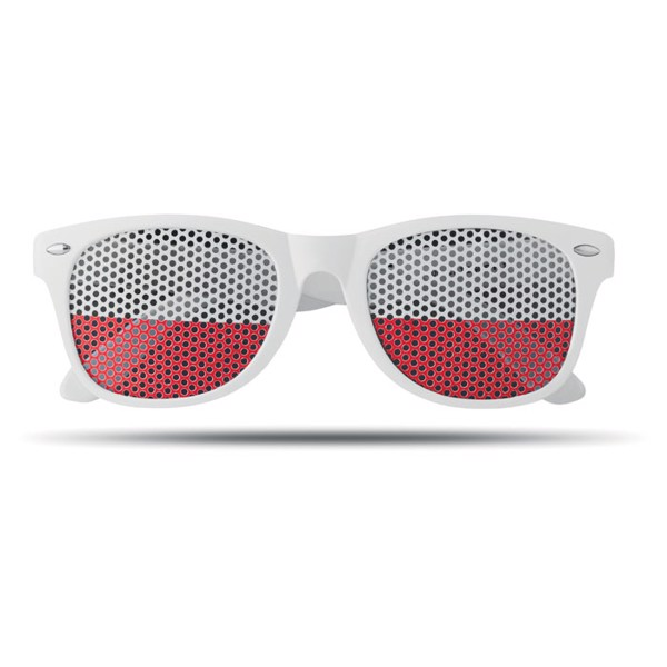 Sunglasses country Flag Fun - White