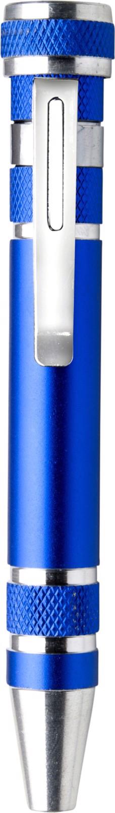 Aluminium pocket screwdriver - Cobalt Blue