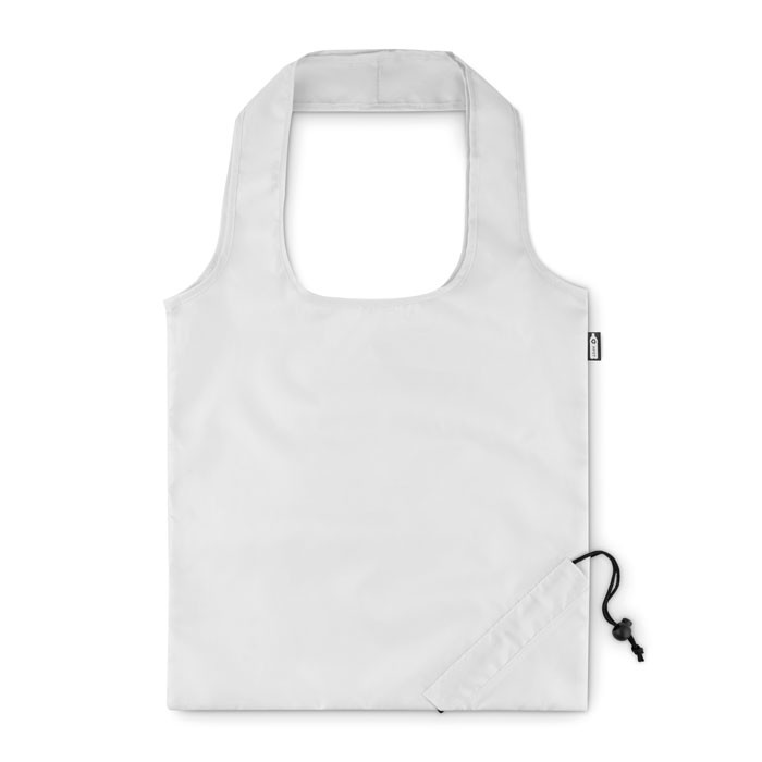 Foldable RPET shopping bag Foldpet - White