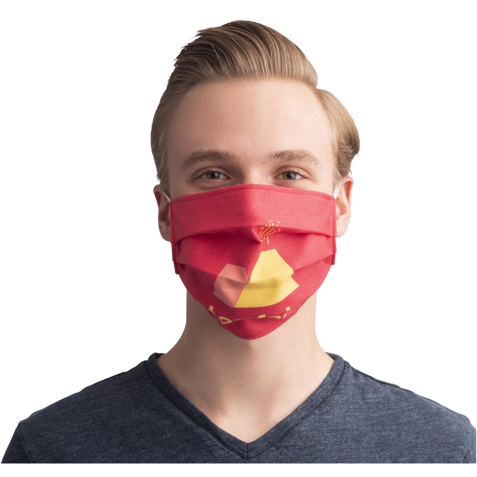 Maska za potisk in večkratno uporabo z elastičnimi trakovi