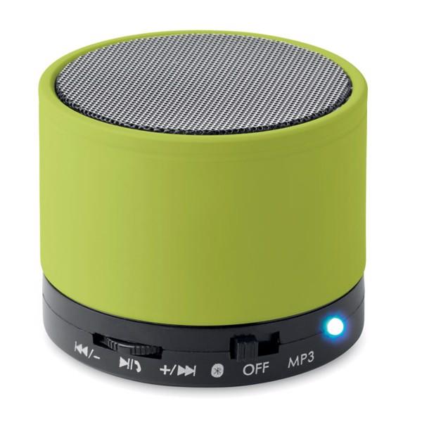 Round wireless speaker Round Bass - Lime