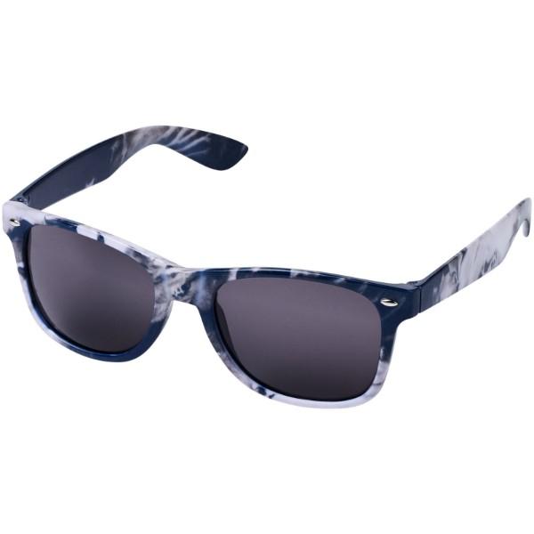 Sun Ray Sonnenbrille mit Batikmuster - Blau / Schwarz