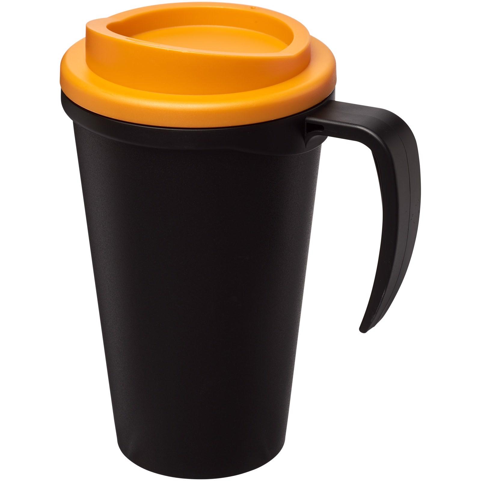 Termo hrnek Americano® grande 350 ml - Černá / 0ranžová