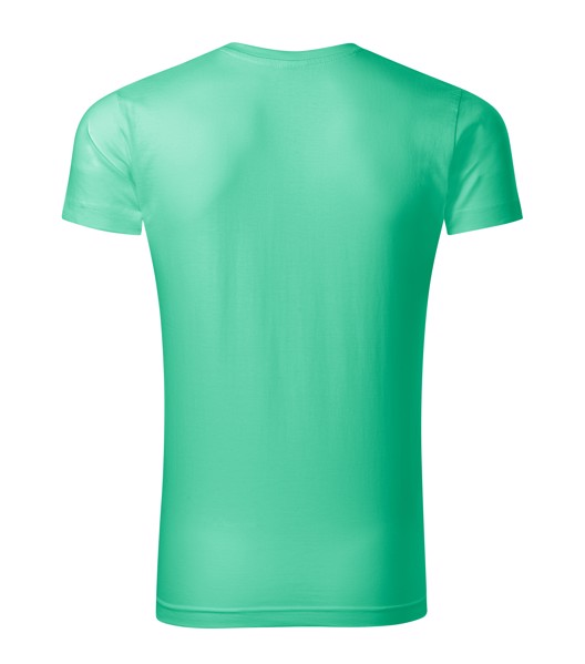 Tričko pánské Malfini Slim Fit V-neck - Mátová / 2XL