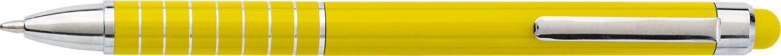 Aluminium lacquered ballpen - Yellow