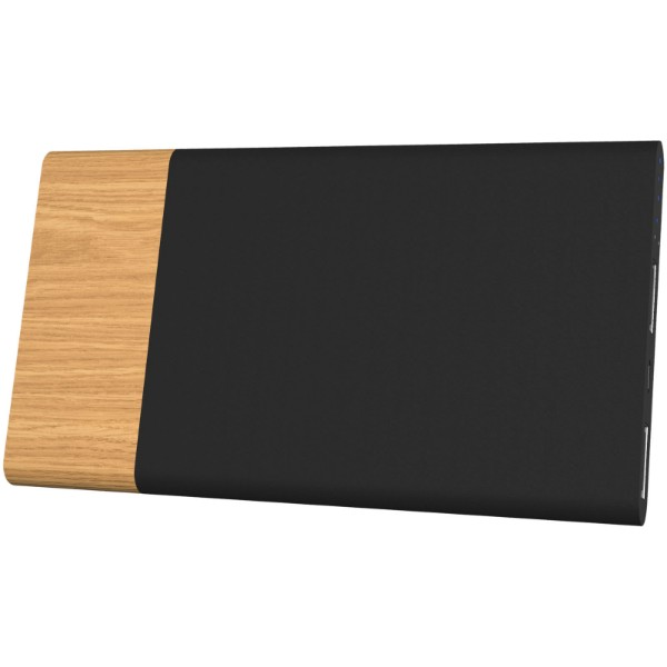 SCX.design P20 light-up 5000 mAh powerbank - Wood / Solid Black