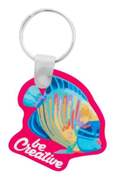 Custom Made Keyring CreaFob - Pink