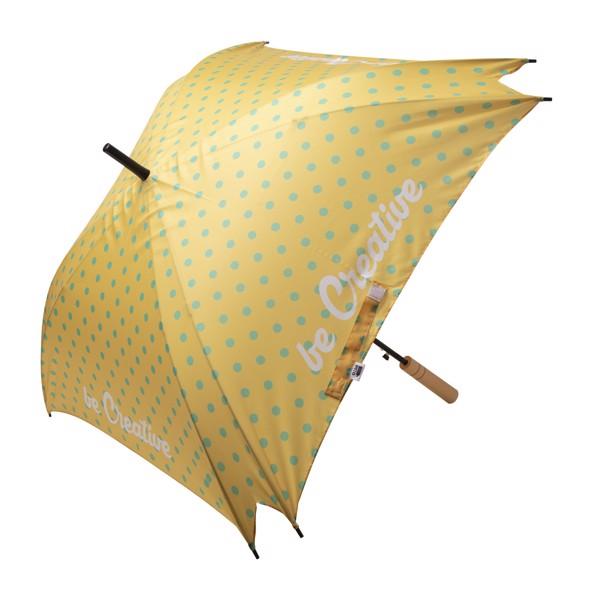 Deštník Na Zakázku CreaRain Square RPET - Bílá / Hnědá