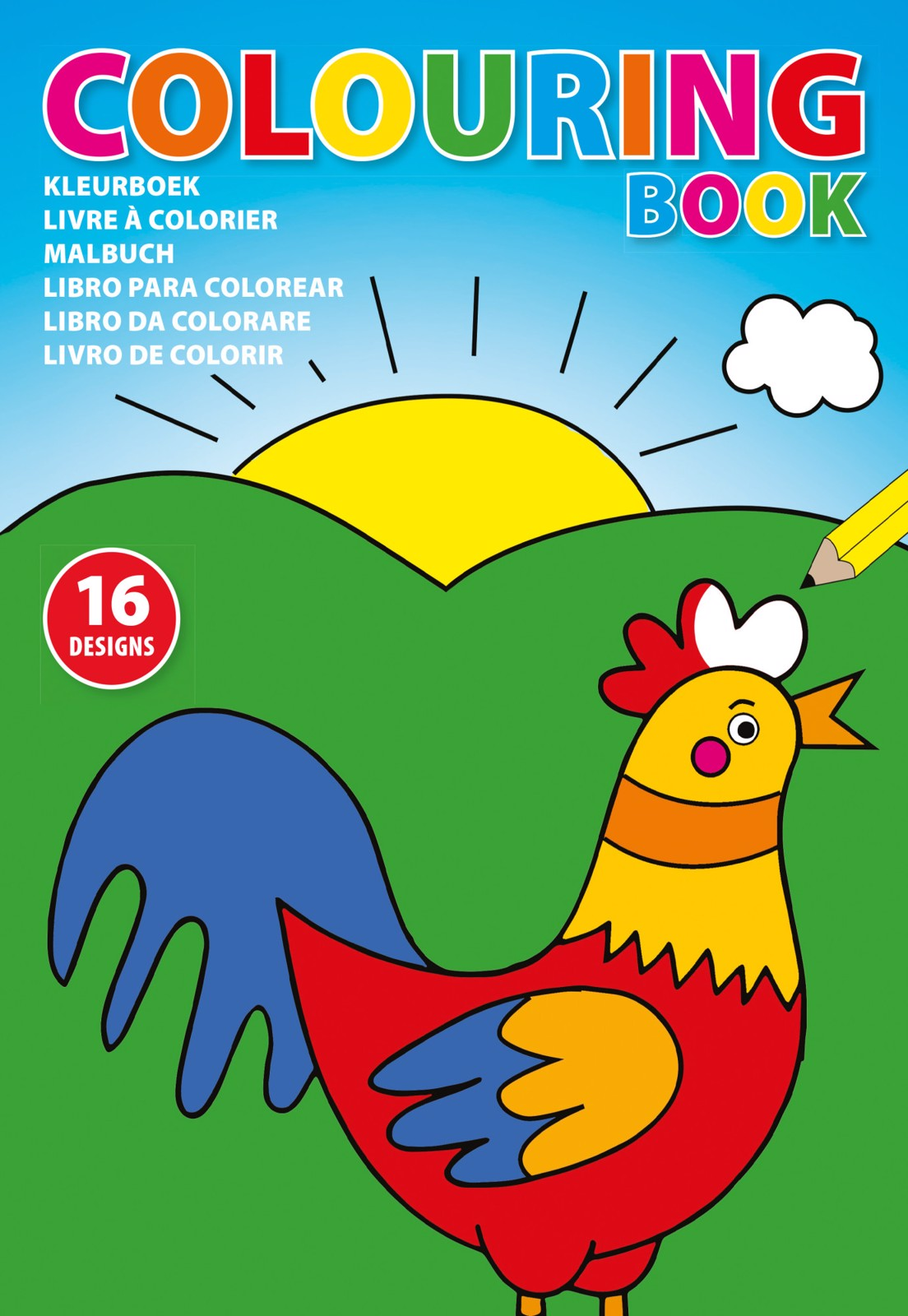 Cardboard colouring book