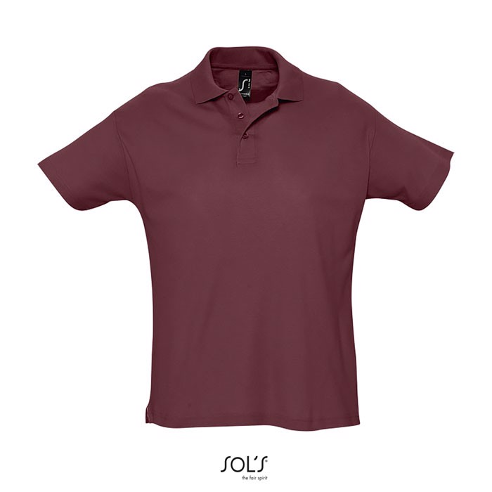 SUMMER II POLO HOMBRE 170g - Burgundy / XL