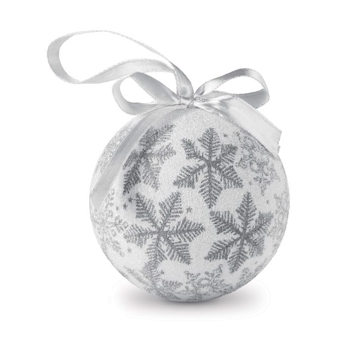 Christmas bauble in gift box Flakies - Silver