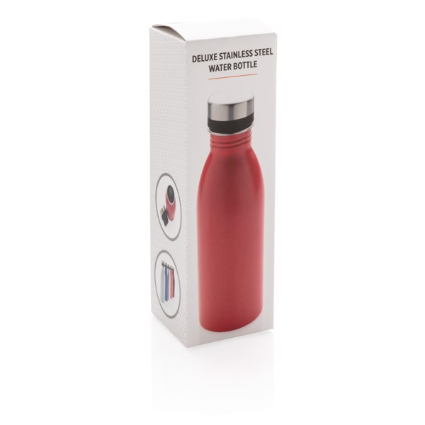 Deluxe vizespalack rozsdamentes acélból - Piros