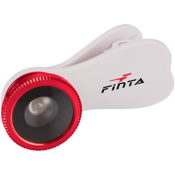 Čočka s efektem rybího oka s klipem - Bílá / Červená s efektem námrazy