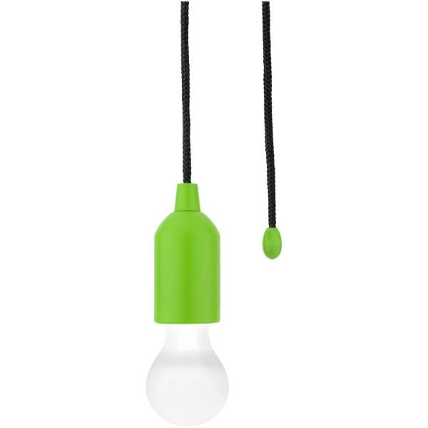 LED světlo Helper se šňůrou - Limetka / Bílá