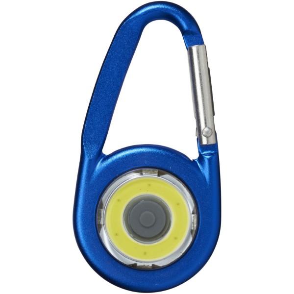 COB svítilna Eye s karabinou - Světle modrá