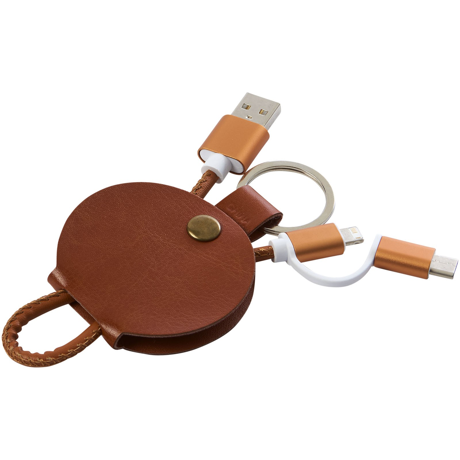 Gist 3-in-1 charging cable - Brown