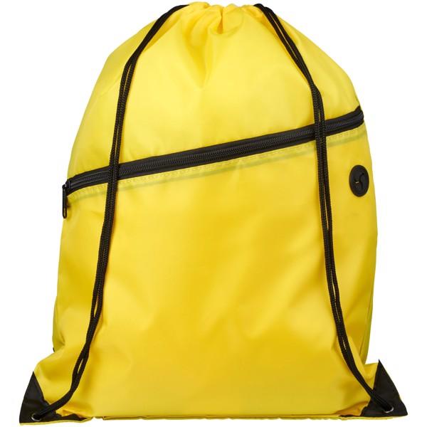 Oriole šňůrkový batoh se zipem - Žlutá