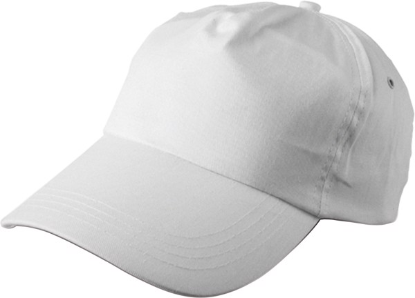 Cotton twill cap - White