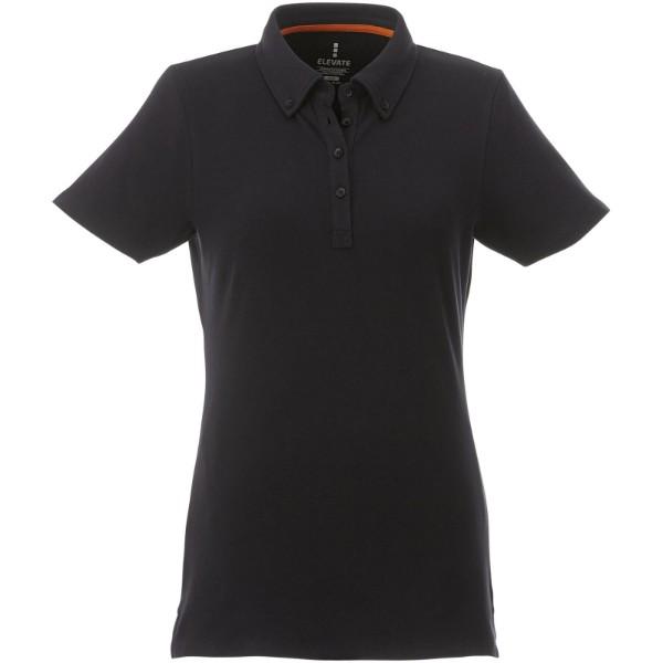 Polo boutonné manches courtes femme Atkinson - Noir / M