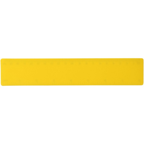 Rothko 20 cm plastic ruler - Yellow