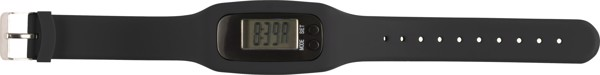 Schrittzähler 'Step' mit Silikon Armband - Black