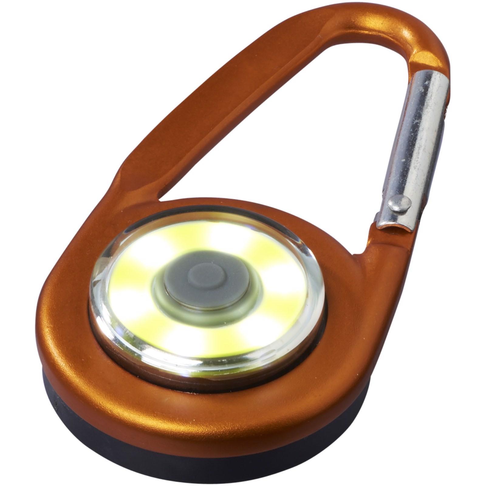 Eye COB light with carabiner - Orange
