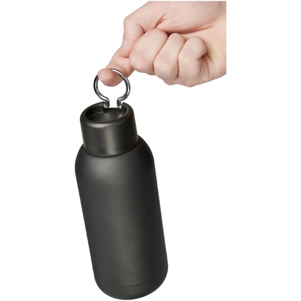 Brea 375 ml vacuum insulated sport bottle - Solid black