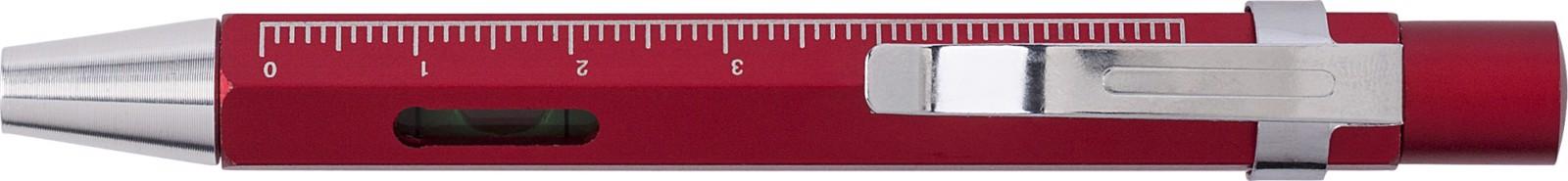 Aluminium 3-in-1 screwdriver - Red