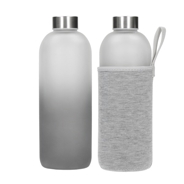 """Glass Bottle With Case """"Iced"""", 1.0 L"""
