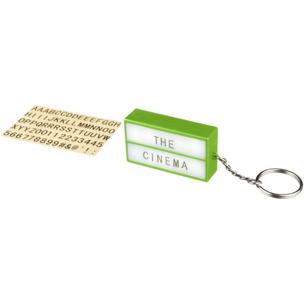 Klíčenková LED svítilna Cinema - Limetka