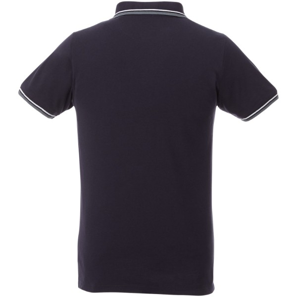 Fairfield short sleeve men's polo with tipping - Navy / Grey melange / White / XXL