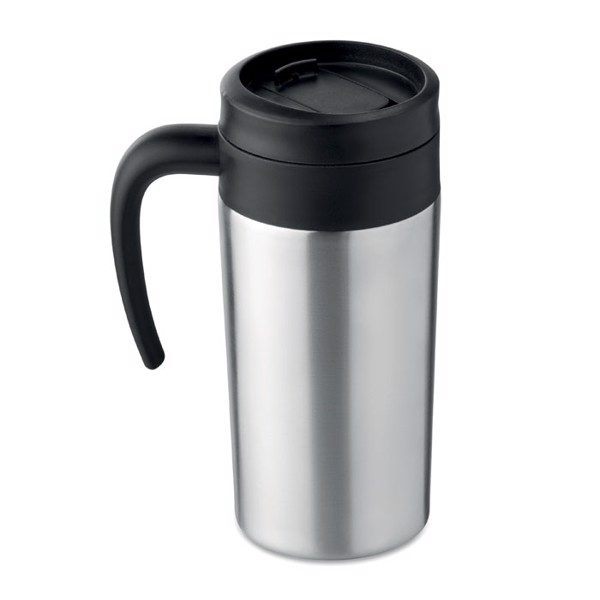 Small travel mug 340 ml Falun Kopp - Matt Silver