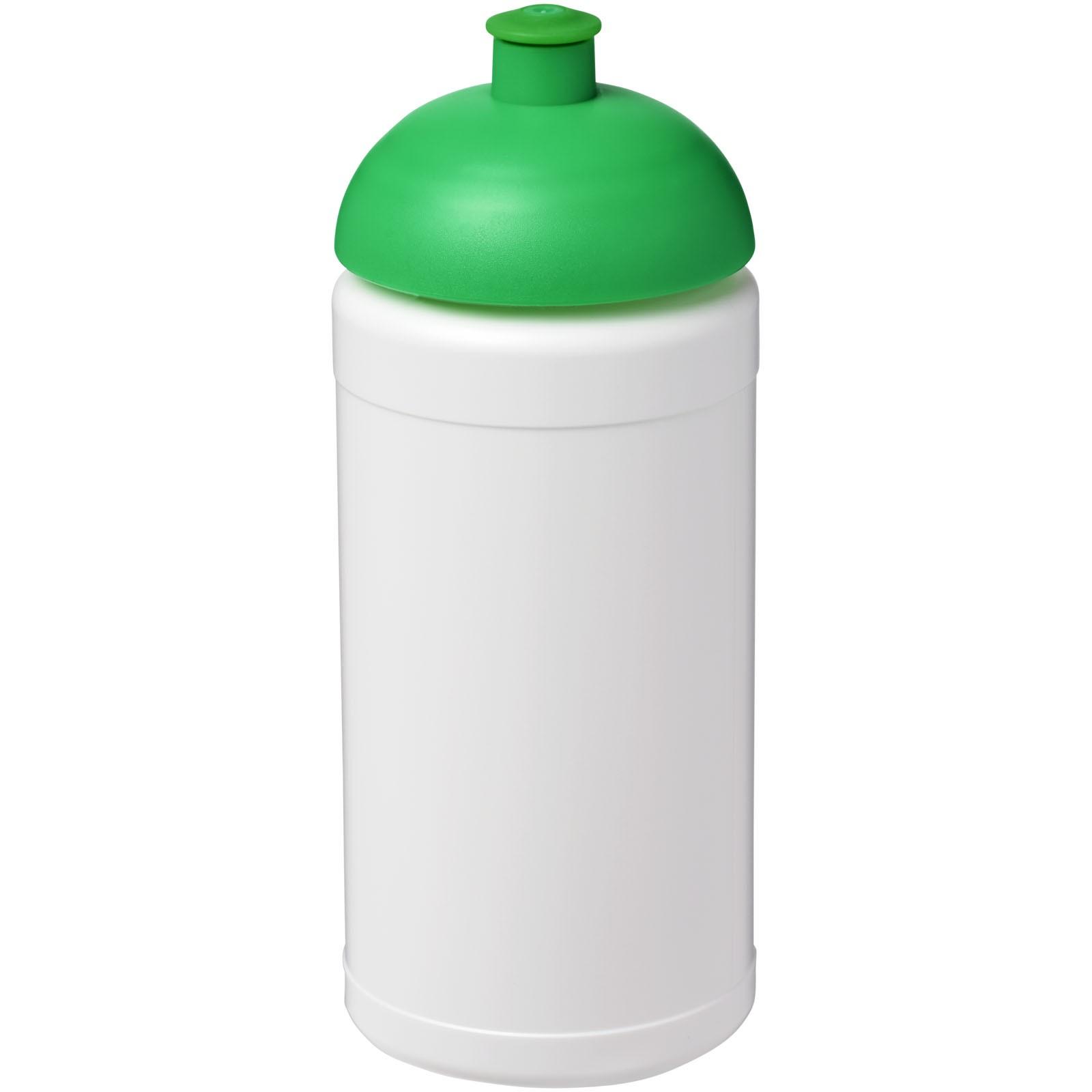 Sportovní láhev s kupolovitým víčkem Baseline® Plus 500 ml - Bílá / Zelená