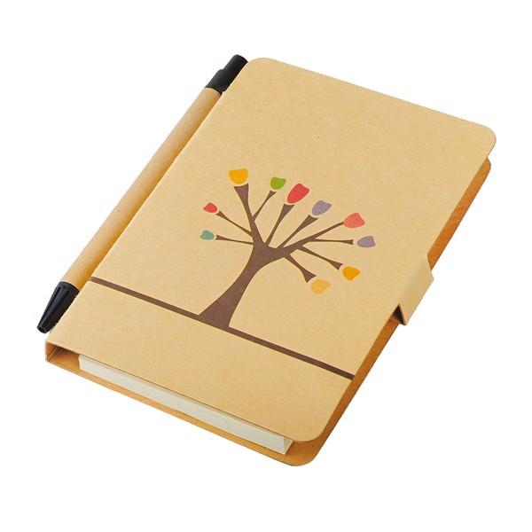 Tree 80x140/50p plain notepad with ballpen