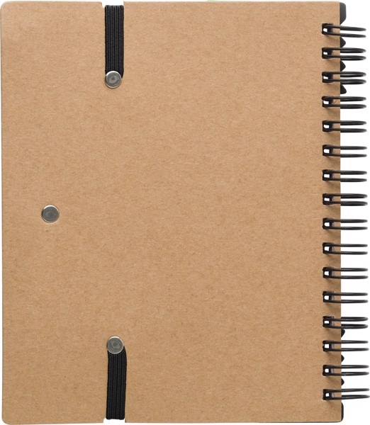 Recycled paper notebook - Black